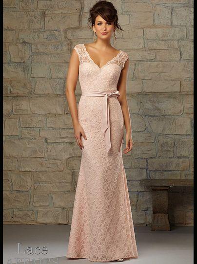 94111eff9f5e6c97 1477606237375 v neck lace floor length mori lee bridesmaid dress