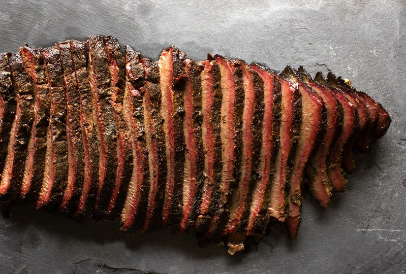 old blue bbq brisket