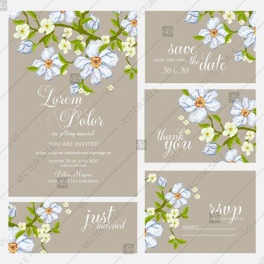 Wedding set in vector format
