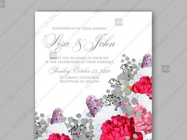 Tmx 1509577708842 Stock Vector Peony Wedding Invitation Red Spring F Tampa wedding invitation