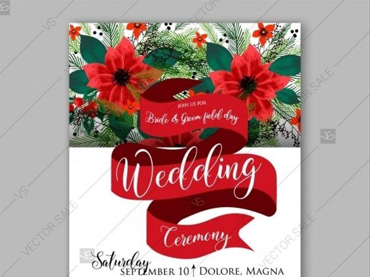 Tmx 1509577709480 Stock Vector Poinsettia Wedding Invitation  Card B Tampa wedding invitation