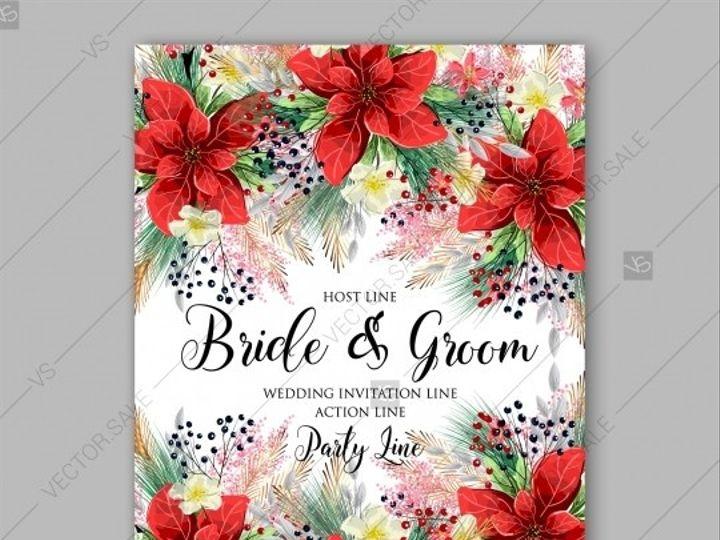 Tmx 1509577716984 Stock Vector Poinsettia Wedding Invitation Card  W Tampa wedding invitation