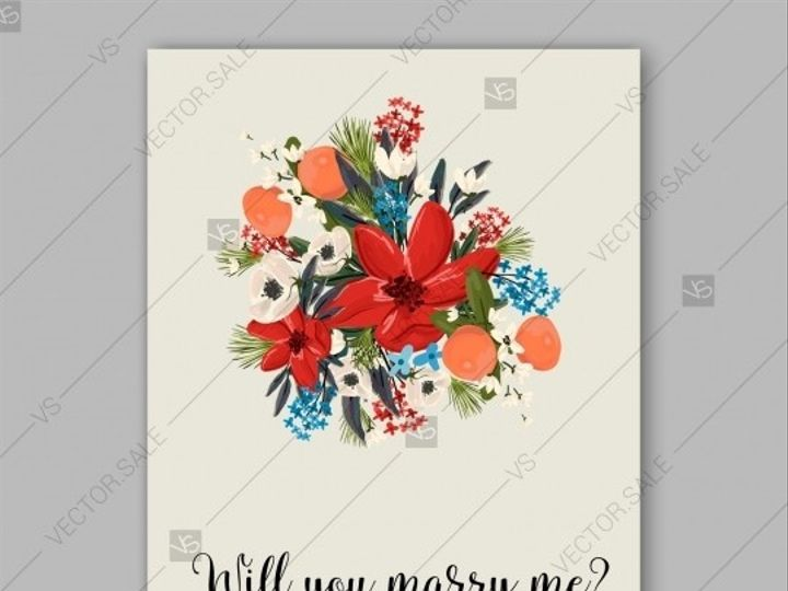 Tmx 1509577722678 Stock Vector Poinsettia Winter Wedding Invitation  Tampa wedding invitation