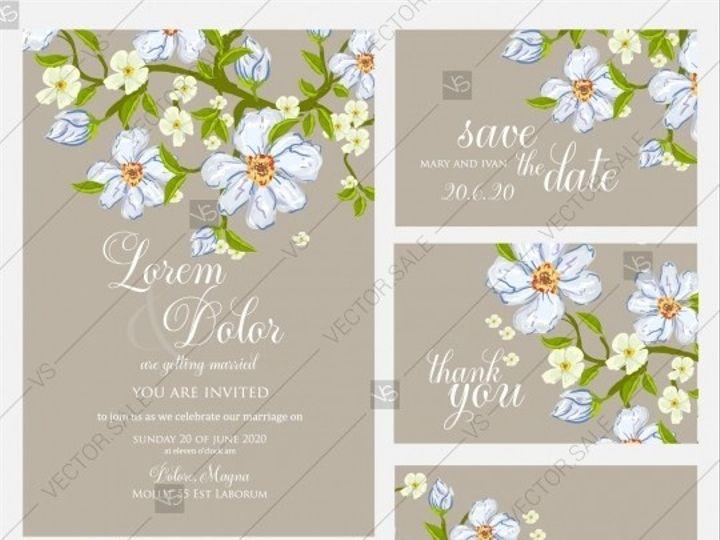 Tmx 1509577743643 Stock Vector Wedding Invitation Rustic Floral Set  Tampa wedding invitation