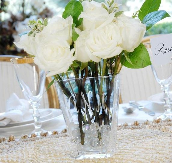 Personalized Vases for Centerpiece Flowers