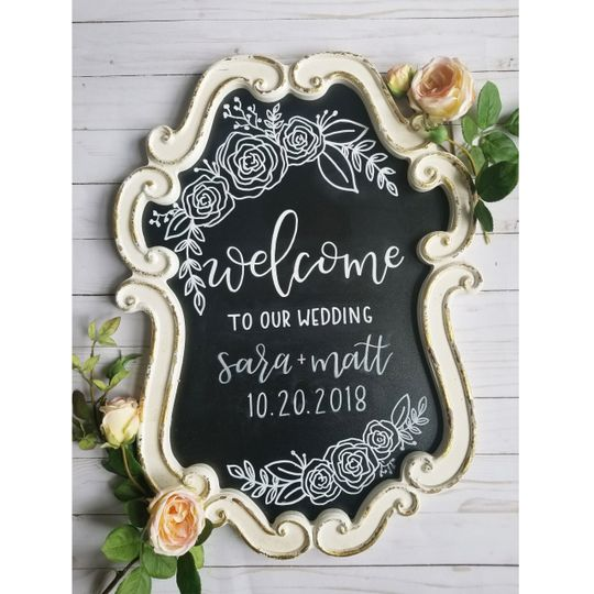 White ornate board for rent