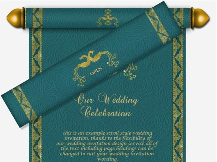 Tmx 1491583638890 Indianscrollinvitation43 Chester, NJ wedding invitation