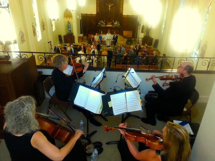 BBMP - String Theory Q Performs Wedding Processional in the Choir Loft