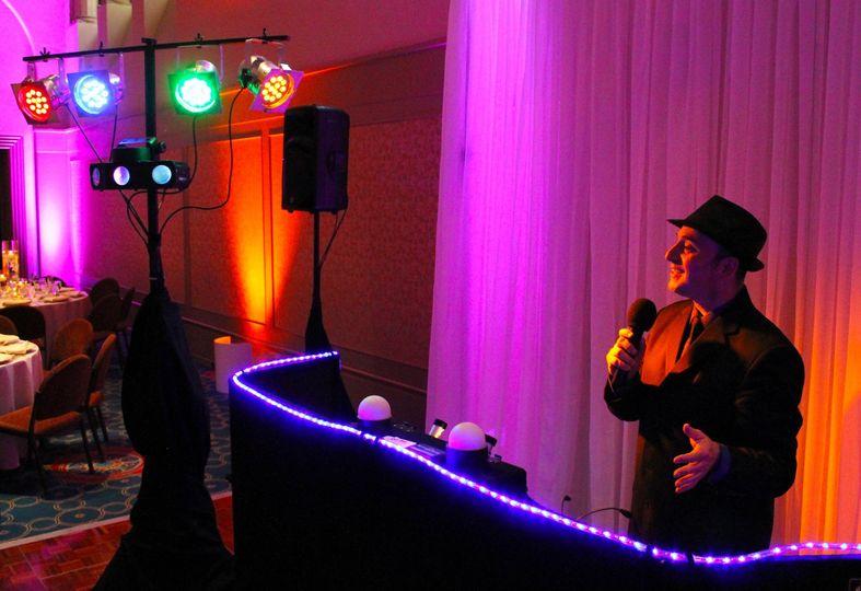 DJ Be • June Wedding with Dance Floor Lighting and Up-Lighting