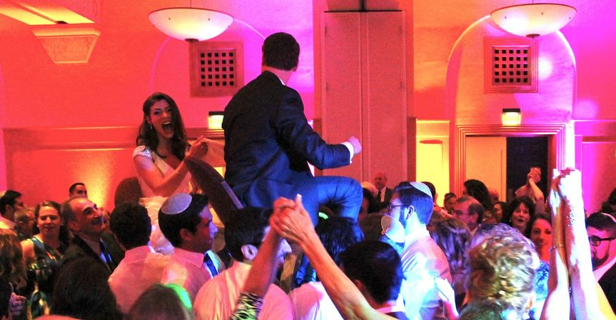 DJ Be Rocking the Hora/Chair Dance with Up-Lighting by BBMP