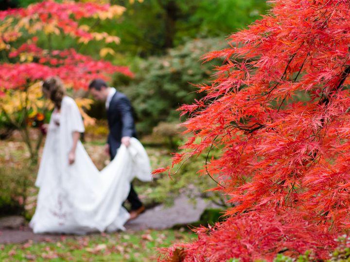 Tmx Bride Groom Fall Red Leaves 51 17448 San Francisco, California wedding band