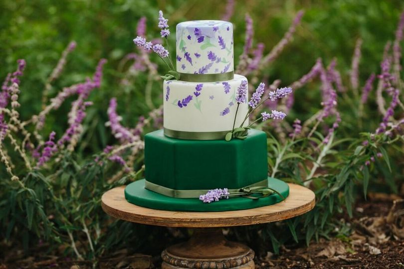 Wedding cake on the grass