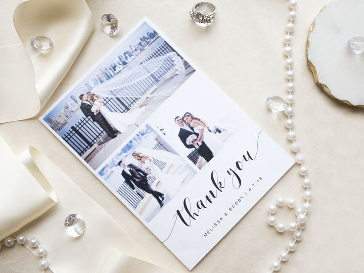 Tmx Melissathankyou2 51 977448 Hawthorne, NJ wedding invitation