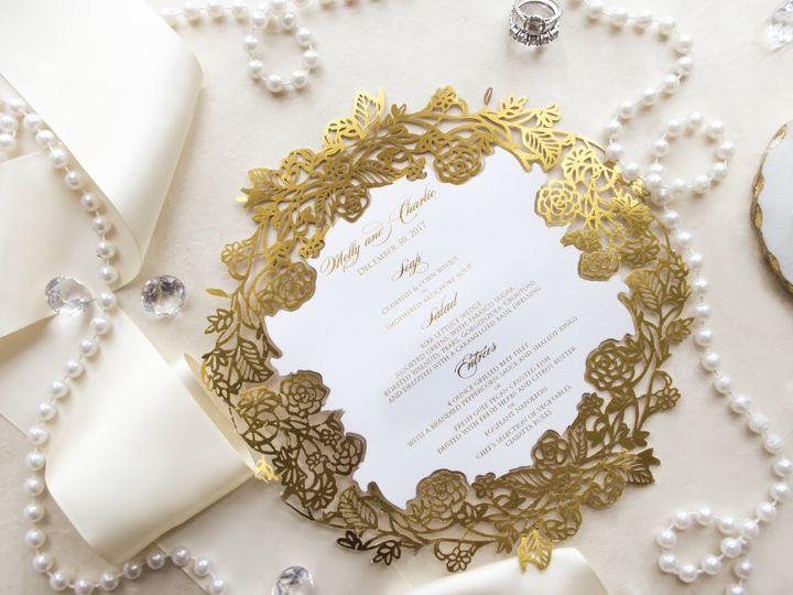 Tmx Roundgoldmenu 51 977448 Hawthorne, NJ wedding invitation