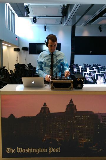 DJing at The Washington Post