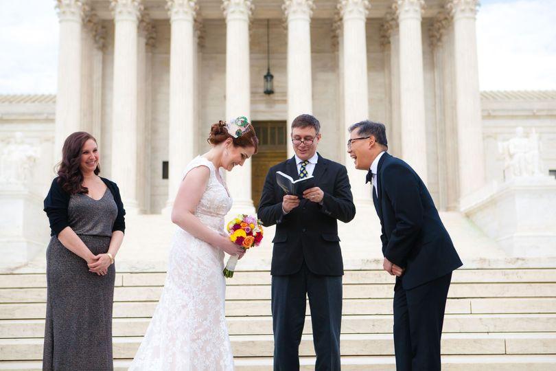 Supreme Court Steps wedding DC