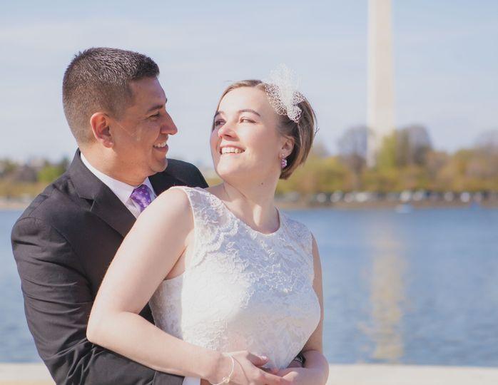 National Mall wedding portrait