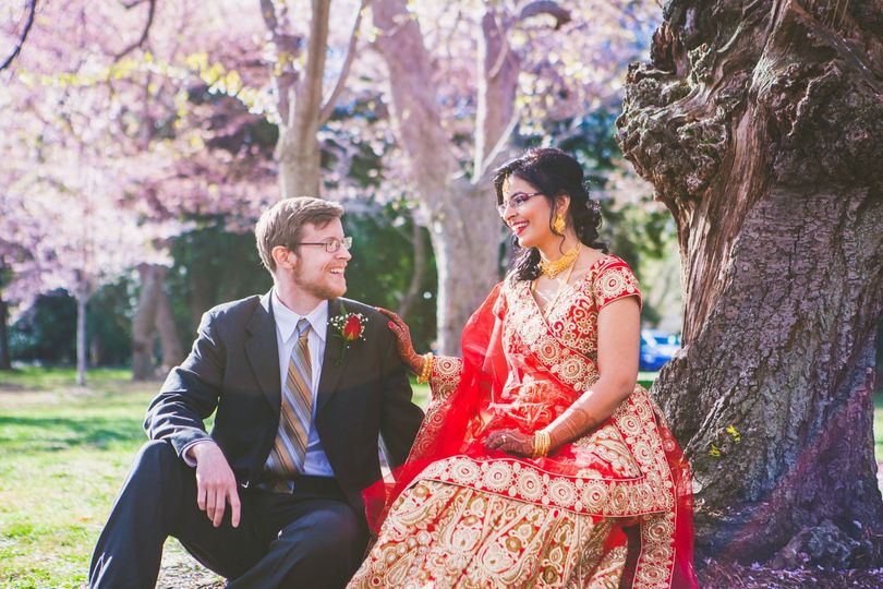 Indian wedding cherry blossoms