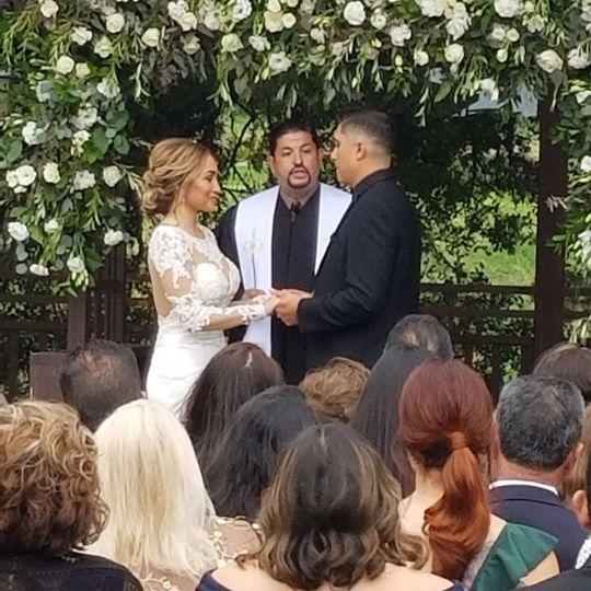 Ceremony of holy matrimony