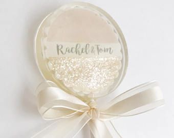 Personalized Glitter Lollipop