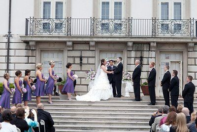 Outdoor Ceremony on the Terrace of the historic Alger House.