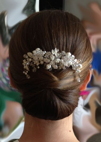 Floral notes on updo