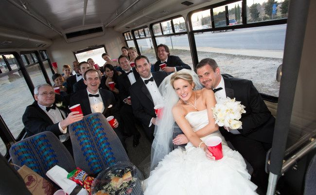wedding shuttle picture