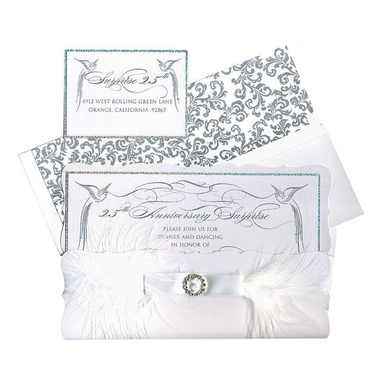An opulent invitation suite