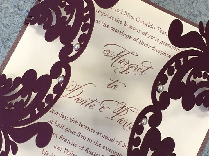 Tmx 1449088753215 Bling5 Little Falls, NJ wedding invitation