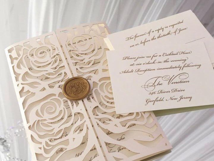 Tmx Close Cover 51 694548 Little Falls, NJ wedding invitation