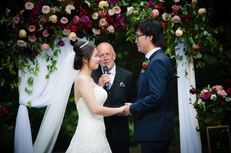 Wedding arch & florals