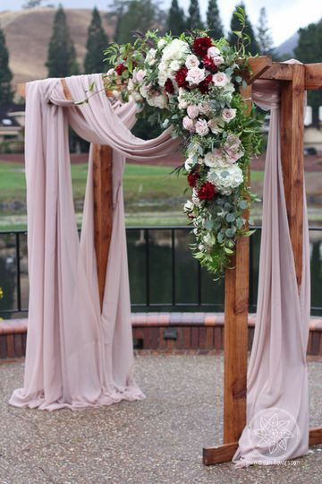 Wedding arch & florals