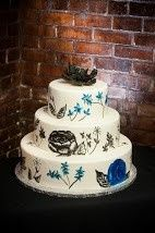 Tmx 1372444904307 Hand Painted Blue And Black Raleigh wedding cake