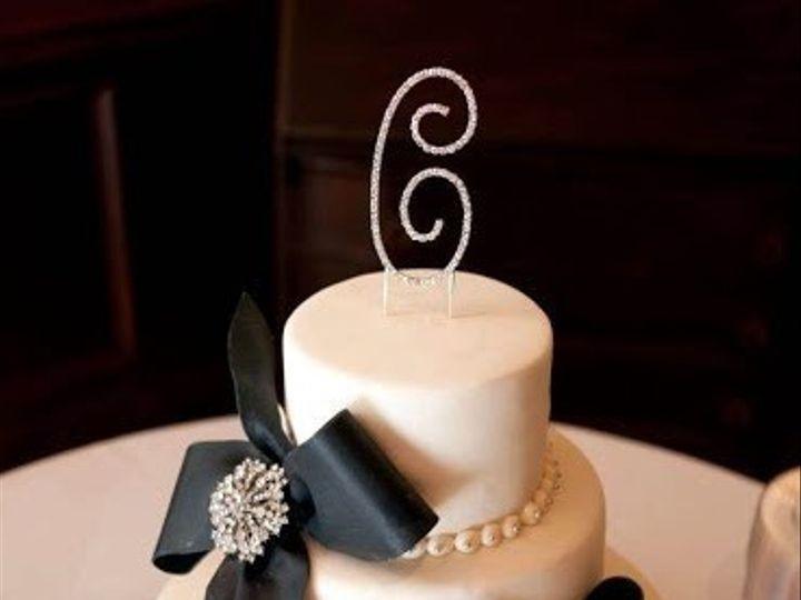Tmx 1372698133874 Navy Bows Monogram 2012 Raleigh wedding cake