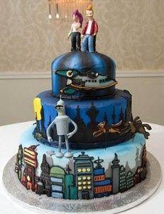 Tmx 1375492748629 Futurama Roundup Wedding Cake New New York 231x300 Raleigh wedding cake