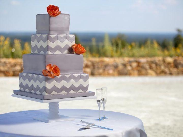 Tmx 1394496455503 Gray Chevro Raleigh wedding cake