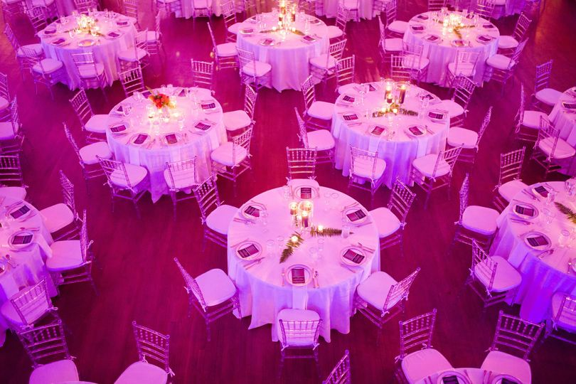 Banquet tables are included with facility