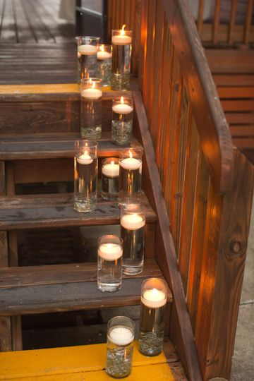 Candlelit stairs