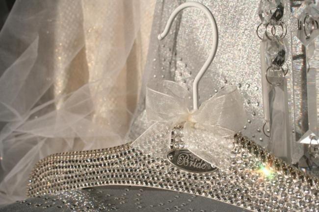 WWW.BLACKBOWHANGERS.COM  bridal hangers, wedding gown hangers, wedding dress hangers.