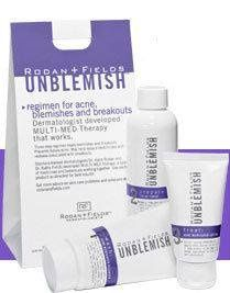The Unblemish line for healing and preventing breakouts.