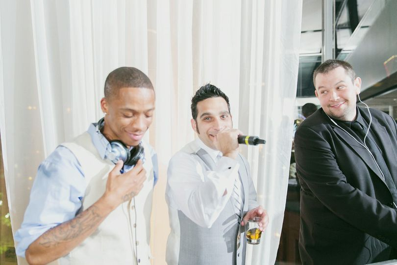 Groom jammed with the staff
