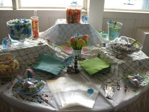 Beach candy table