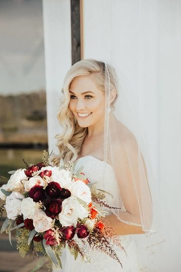 Bride on her special day