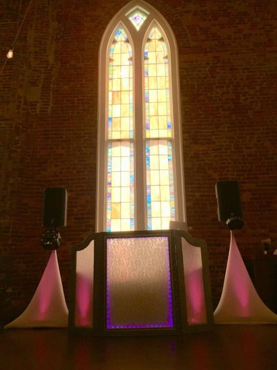 """Our newest build!! The """"Royal"""" DJ and Lighting set up!"""