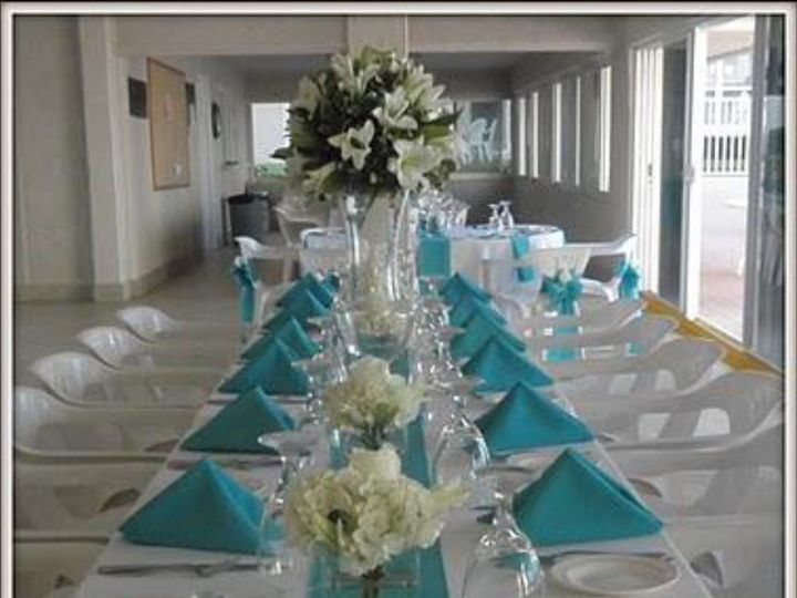 Tmx 1500390110939 Turquiose Table With Napkins Taylors, SC wedding eventproduction