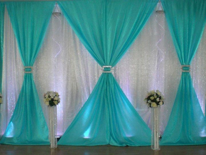 Tmx 1500390613951 Teal Wall Drape Taylors, SC wedding eventproduction