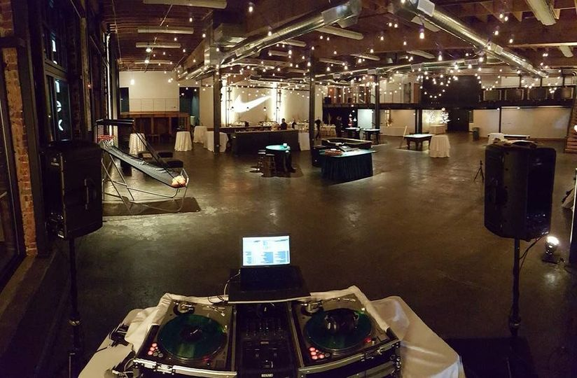 DJ set up and dance floor