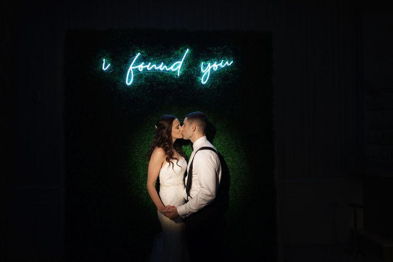 Romantic neon sign