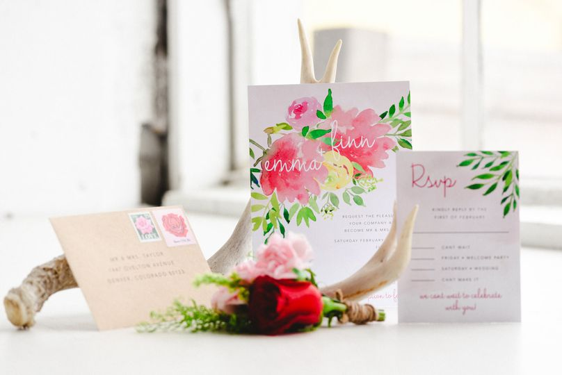 Fully Custom Wedding Invitation Suite