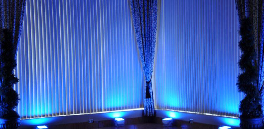 blue led lights rental